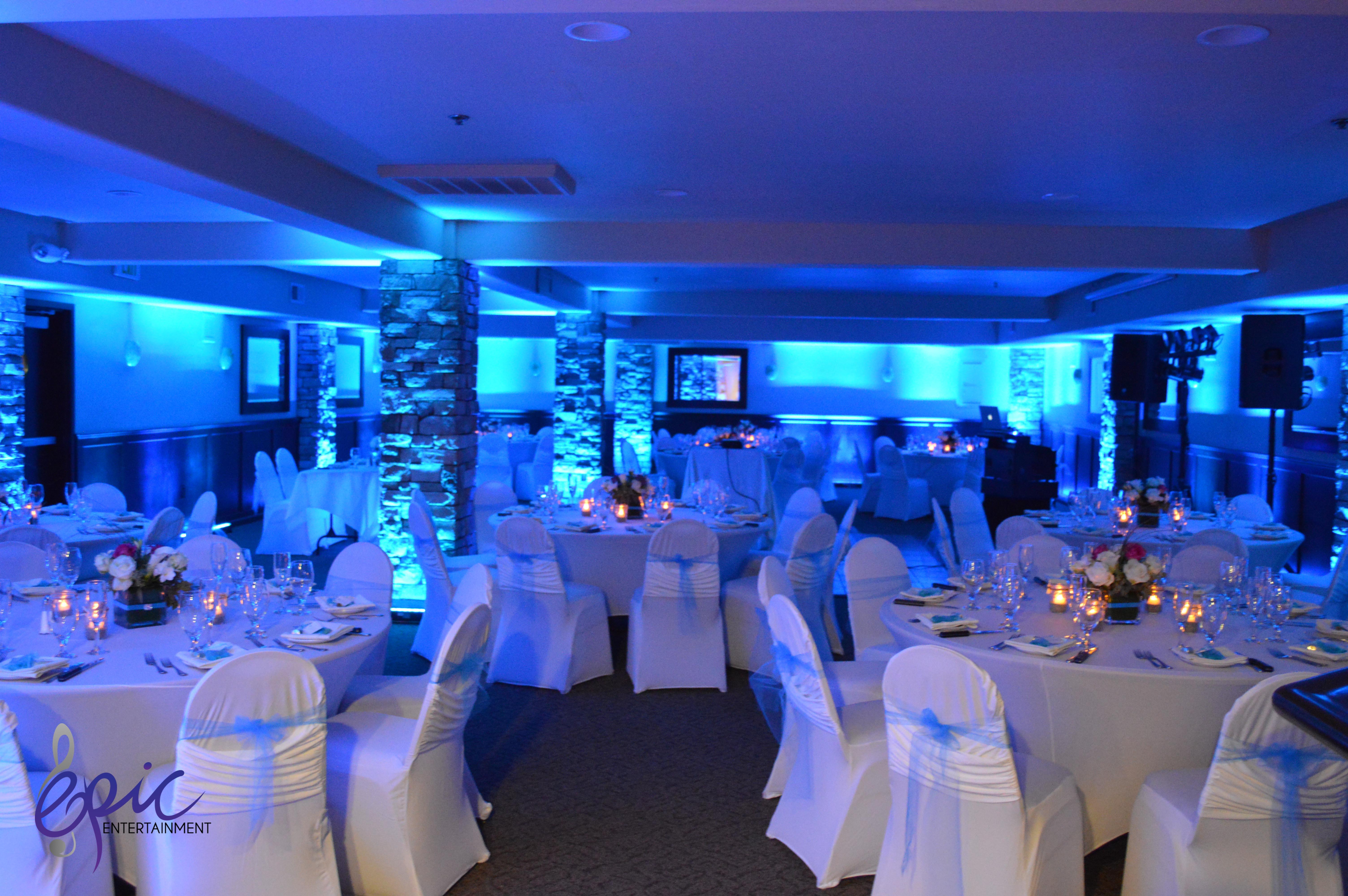 blue uplight Custom House