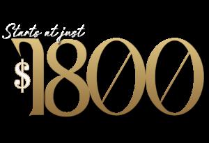 Starts at 1800